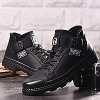 AIMENGA Calzado De Hombre Botas Martin Invierno De Hombre Engrosamiento Alto para Ayudar Calzado De Hombre Informal Botas Botas Botas Botas De Moda Juvenil para Hombre Hombres, Negro, 39