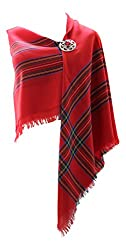Ingles Buchan 100% Pure New Wolle Authentic Traditionelle Schottische Tartan Bordüre Schal - Royal Stewart