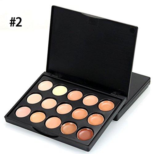 Amuster MIni 15 Couleurs Visage Concealer Camouflage Crème Contour Palette Correcteur anticernes de haute qualité Emollient (Multicolore B)