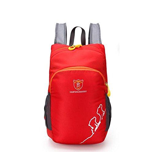 SZH&BEIB Faltbare Rucksack Wasserdichte Nylon Ultra Light für Outdoor Reit Tasche Klettern Wandern Wasser-Beutel E