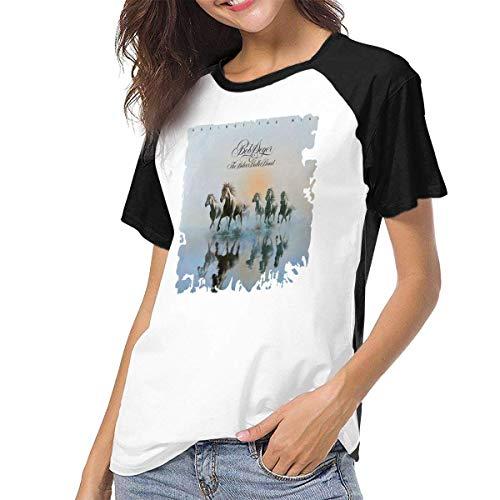 Bagew Damen T-Shirt Mit Rundhalsausschnitt, Womens Raglan Baseball T-Shirt Bob Seger Printed Crew Neck Casual Tee Tops