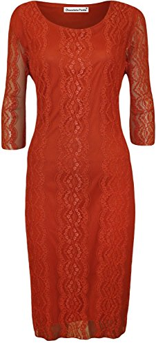 Sconosciuto Damen Kleid Burnt Orange