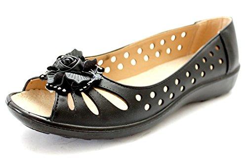 Mr Shoes Mary Jane pour femme Noir basses Noir Nero (nero)