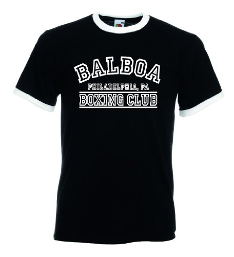 Fruit of the Loom Italia/Italien Herren T-Shirt Retro Balboa Boxing Club|XL