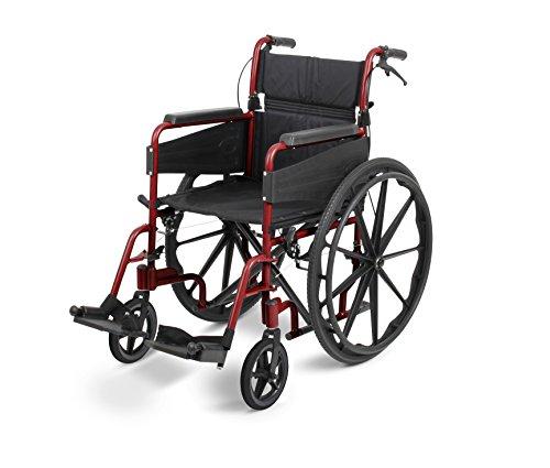 Days Escape Lite Rollstuhl, selbstfahrend Standard, Ruby Rot