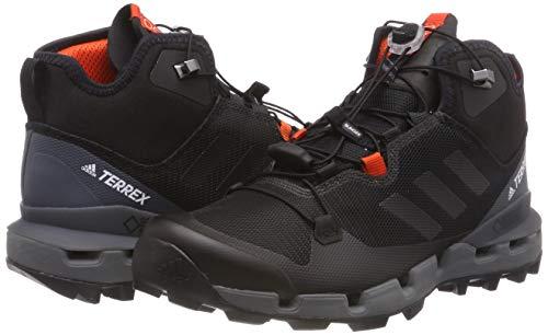 adidas Herren Terrex Fast Mid Gtx-Surround Wanderstiefel, Schwarz (Nero Negbas/Negbas/Grivis), 44 2/3 - 5