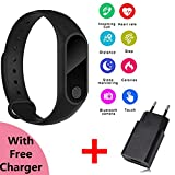 Axe-Style-M2+Free-USB-Charger-Plug-Heart-Rate-Monitor-|-Bluetooth-Unisex-Health-Fitness-Tracker-and-More-Smart-Band-for-Smartphones---Black