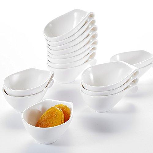 Malacasa Série Ramekin Dish, 16pcs Bol à Sauce Coupelle Saucière Ramequin Moule à Soufflé Crème Brulée Pâtisserie Dessert Porcelaine 3.75\\
