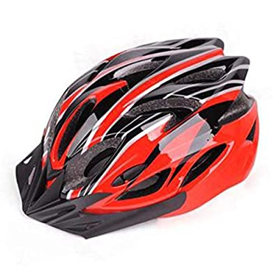 Elenxs Men's Women's Helmet Mountain Bike Helmet Comfort Safety Cycle Bicycle Helmet(Red&Black) from Elenxs