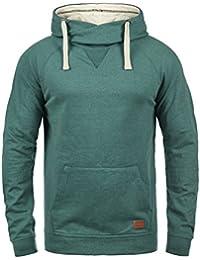 BLEND 703585ME Sales Herren Kapuzenpullover Hoodie Sweatshirt mit Kapuze und optionalem Teddy-Futter sowie Crossover-Kragen aus hochwertiger Baumwollmischung Meliert