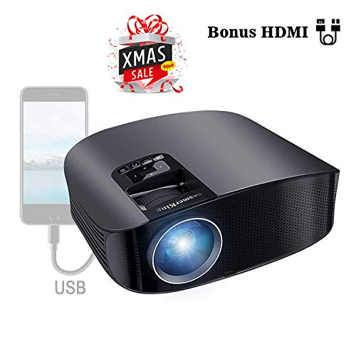 Proyector HD, BeamerKing LED Proyector Video Portátil 3500 Lúmenes Soporte Full HD...