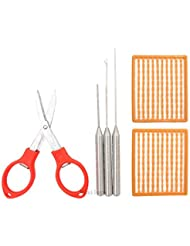 Agujas para cebo de pesca carpa cebo de pesca pesca aparejo herramienta de pesca Rig aguja Swinger perforadora Set, 6en 1