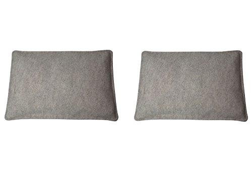 Filz-Kult Sitzkissen für Bierzeltgarnitur, 2 Stück, beige-meliert, Bierbank-Auflage, Filz-Kissen, Bank-Polster, Garten