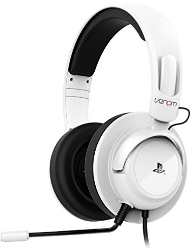 Venom Offiziell Lizenziertes Vibrations Stereo Gaming Headset - Weiß - Für PS3 und PS4 (Of Ps3 Bundle Duty Call)