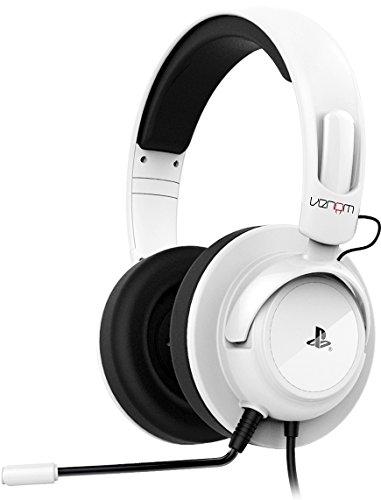 Preisvergleich Produktbild Venom Offiziell Lizenziertes Vibrations Stereo Gaming Headset - Weiß - Für PS3 und PS4