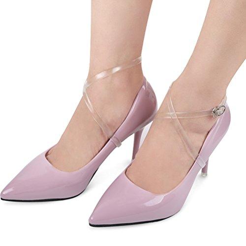 ULTNICE Transparente Schuhband Schuhriemen mit Schnalle für High Heels hochhackigen Schuhen - Schuh Klar Heel