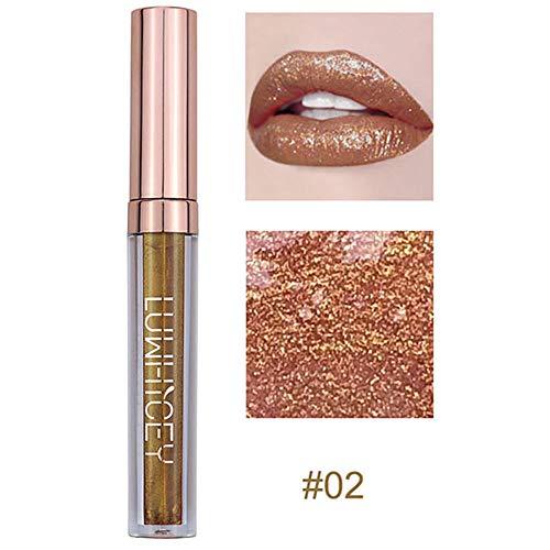 Smengg rossetto sexy labbra impermeabili metalliche lucidalabbra moda labbro rossetto cosmetici donne (b)