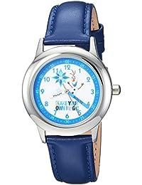 Disney Boy's 'Frozen Olaf' Quartz Stainless Steel Casual Watch Color:Blue (Model: WDS000194)