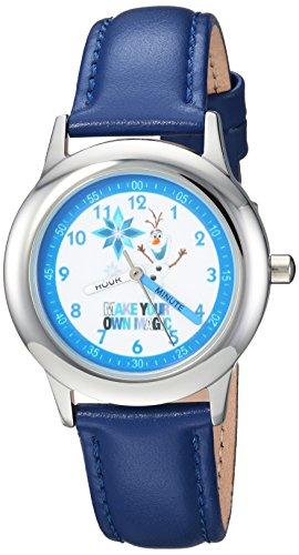 Disney Boy's 'Frozen Olaf' Quartz Stainless Steel Casual Watch Color:Blue (Model: WDS000194) image