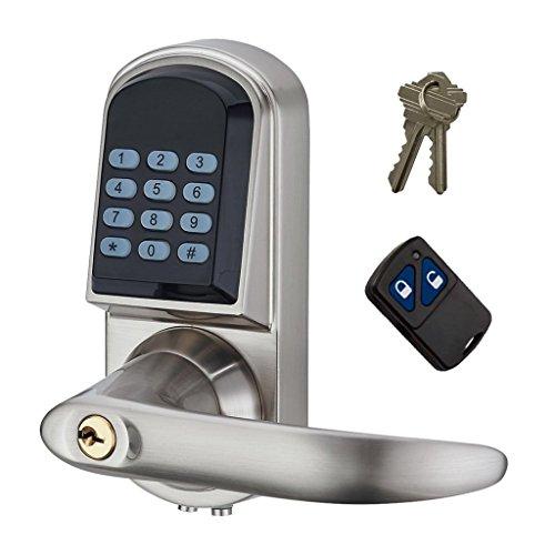 MagiDeal Digital Elektronisches Türschloss Zutrittskontrolle mit Kombination und Fernbedienung für Haus/Büro/Bad/Schule
