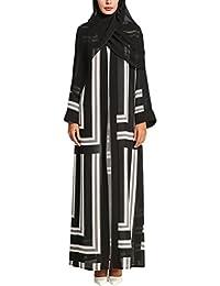 TAAMBAB Arabo Vestito Musulmani Cardigan per Donne - Islamico Casuale Sera  Festa Abaya Maxi Vestito Elegante 1c46714ce44