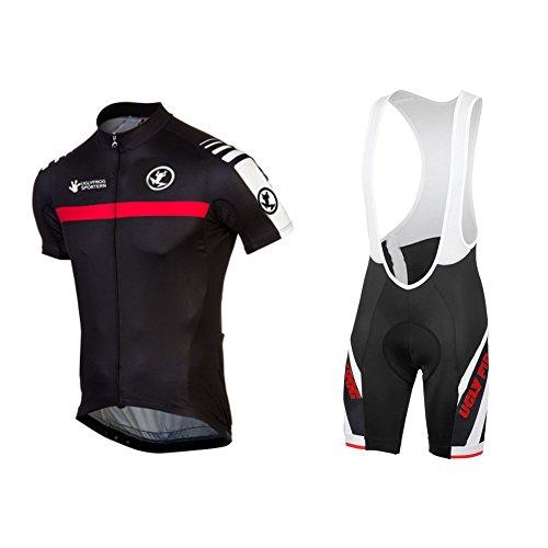 Uglyfrog+ Herren Radtrikot Kurzarm Bike Shirts und Trägerhose Set Sportbekleidung