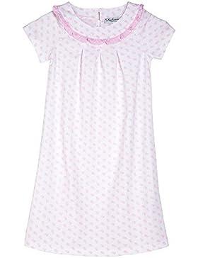 [Sponsorizzato]Mod.129stampa, camicia da notte Siebaneck mezza manica bambina/ragazza ( da 2 a 16 anni ) 100% cotone bianco con...