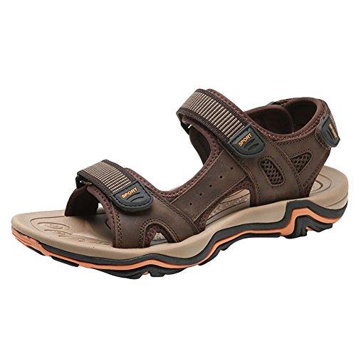 Herren Athletic Verstellbarer Gurt (SK Studio Herren Sommer Leder Athletic Slide Sandale)