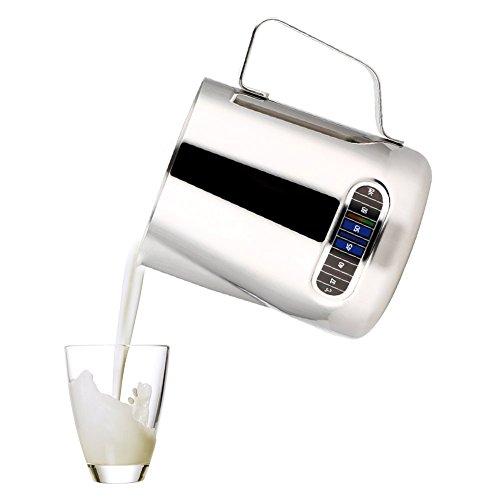 Edelstahl Aufschäumkännchen Milchschaumbehälter mit dem Thermometer
