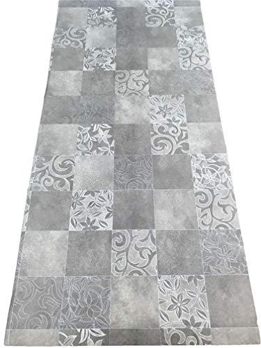 Ecru Fliese (LaVelaHOME Teppich Ecru Meterware PVC Breite 100 cm marisiert Zementine Azulejo Bodenplatte)