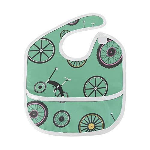 Rtosd Fahrrad Rad Radfahren Benutzerdefinierte Weiche Wasserdichte Fleck Geruchshemmende Baby Fütterung Dribbeln Sabbern Lätzchen Spucktücher Für Kleinkinder Insgesamt Für 6-24 Monate Kind Geschenk
