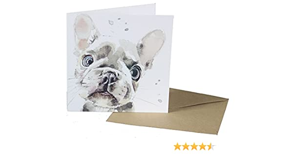 Watercolour Design Pug Breed of Dog Design Blank Card for any Special Occasion