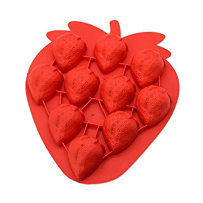 Silicone Strawberry Ice Cube Tray Tools Chocolate Ice Mould color random Diy Lovely Freeze Bar from Luwu-Store