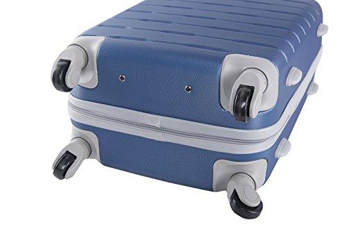 415nOZbYzHL - 3 Maletas rígidas PIERRE CARDIN azul 4 ruedas cabina para viajes VS21