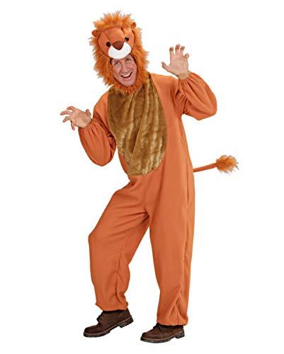 Horror-Shop Löwen Kostüm Overall für Herren mit Löwenkopf Mütze S