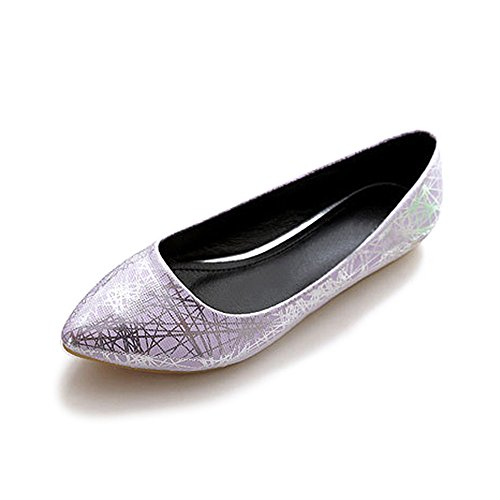 Femme Ballerines Plates Pointue Depolie Couleur Brillante Mode Simple Poiture 34 - 45 #02 Violet