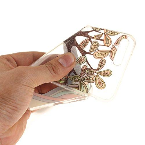 Felfy Coque pour iPhone 7 Plus,iPhone 7 Plus Case,iPhone 7 Plus Ultra Slim TPU Case Housse Silicone Souple Etui Gel Fine Couverture Arrière Anti Poussières Couvercle Anti Rayures Motif Transparent Cas Arbre Peint à la Main