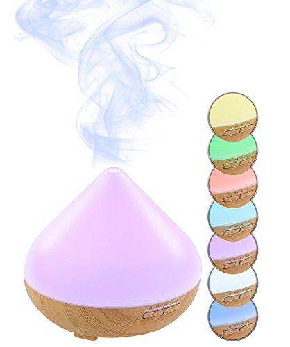 Carlo Milano Diffuser: Aroma-Diffusor mit 7-Farben-LED-Farbwechsler und Timer, 300 ml (Duftlampe)