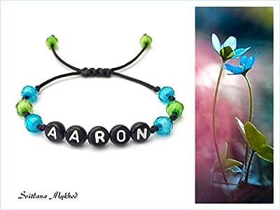 """Bracelet avec prénom""""AARON"""" (réversible, personnalisable) homme, femme, enfant, bébé"""