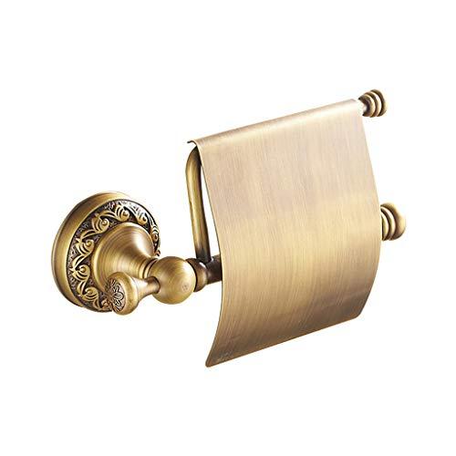 LINA Porte-Papier Hygiénique, Boîte À Mouchoirs en Cuivre Plein d'or, Porte-Serviettes en Papier, Porte-Papier en Or Rose Européen, Porte-Rouleau