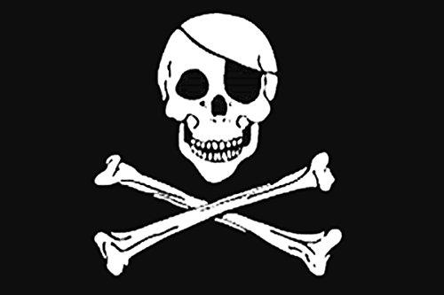 Durabol Bandera de Pirata (calavera) 150 x 90 cm Satén...
