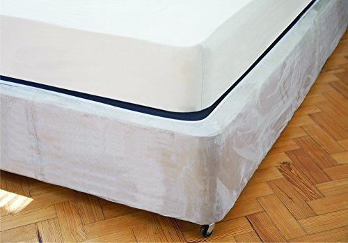Belledorm divano base wrap mantovana - lusso pelle scamosciata (dimensione doppia, lino)