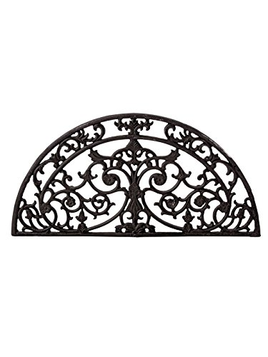 Pureday miaVILLA Fußmatte Ranke Halbrund Fußabtreter - Vintage-Look - Metall - Braun