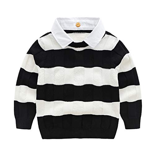 Jungen Strickpullover Langarm Kinder Gestrickt Pullover Baumwolle Sweatshirt Hemd Tops 18-24 Monate -