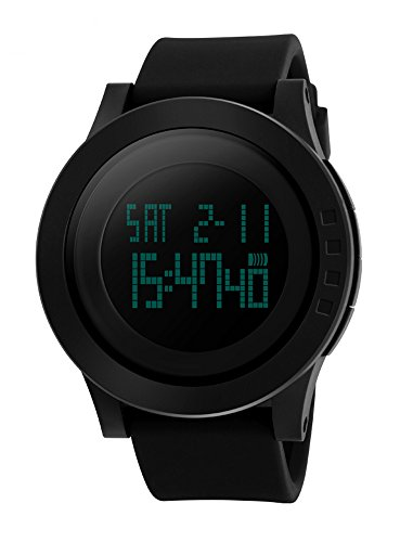 Mens-Digital-Watch-Military-Sports-Watches-for-Men-Big-Face-Rubber-Strap-50M-Waterproof-with-Backlight-Black-by-FunkyTop