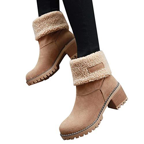 Preisvergleich Produktbild TianWlio Stiefel Frauen Winter Warm Schuhe Stiefeletten Boots Halten Schlüpfen Schneestiefel Weihnachten Damen Winterschuhe Flock Warme Stiefel Martin Schneeschuhe Kurzer Stiefelette