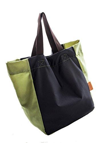 iSuperb® pieghevole Tote leggero impermeabile Roomy Big Bag borsa per la corsa commerciale all'aperto Blu scuro
