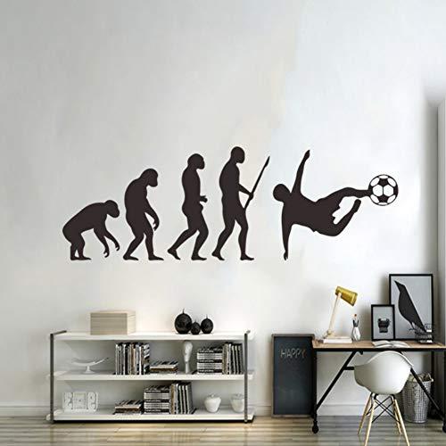 Yzybz Menschliche Evolution Wandaufkleber Fußball Pvc Vinyl Home Decor Für Kinderzimmer Primitive Moderne Menschen Wandtattoos