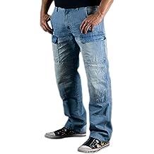 Juicy Trendz Hombre Motocicleta Pantalones Moto Pantalón Mezclilla Jeans Con Protección Aramida
