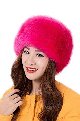 ux Fox Pelz Russischen Kosaken Hut(Rosa) (Russische Faux Pelz Hut)